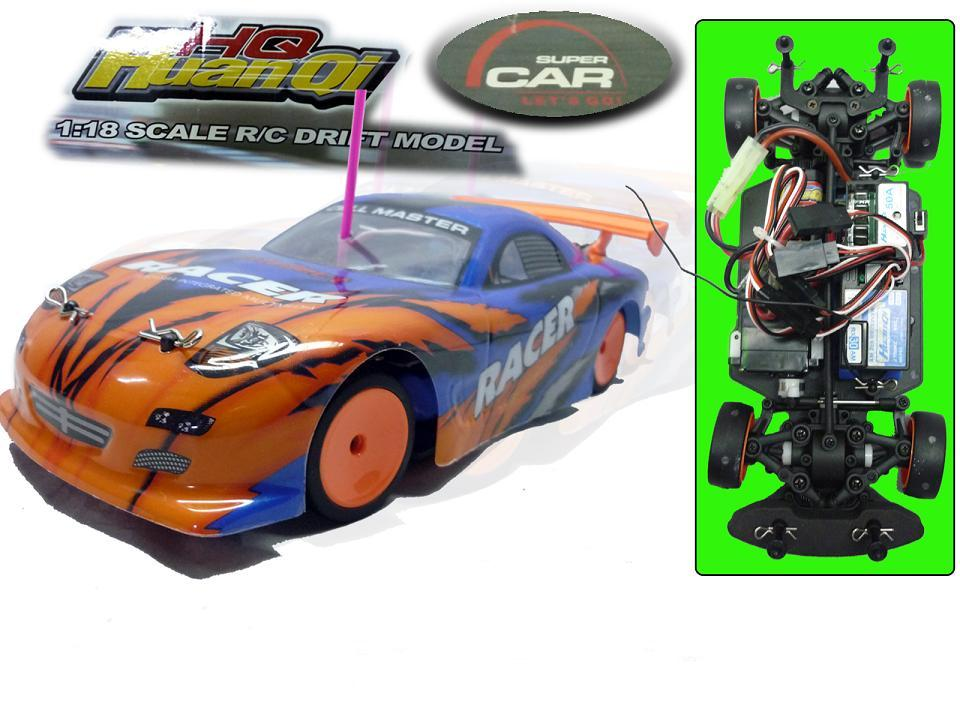 Drift Car HUAN QI 4WD 1:18 RTR  with remote control