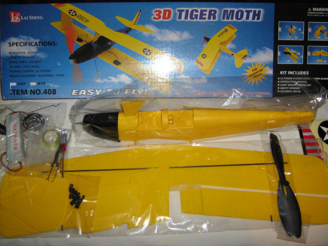 Kit polistiren Tiger Moth