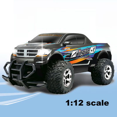 Monster Truck RAMPAGE CROSS COUNTRY BIG FOOT cu lumini 1:12
